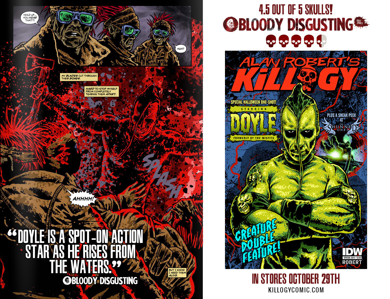 KILLOGY Comic Starring Doyle of The Misfits