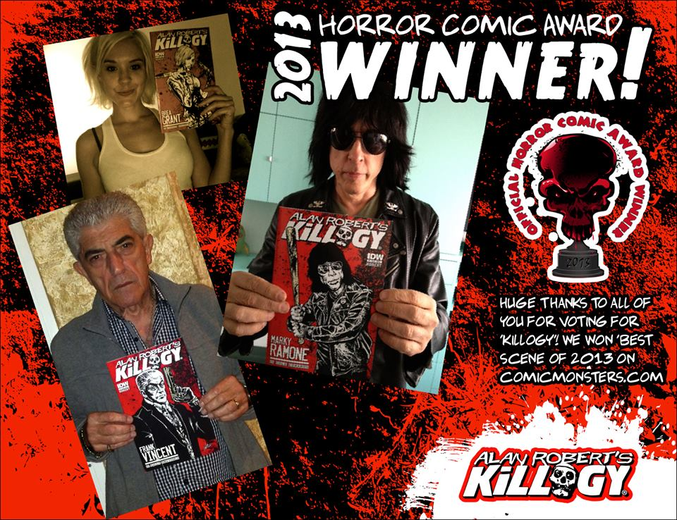 Vote for Alan Robert's KILLOGY Comic